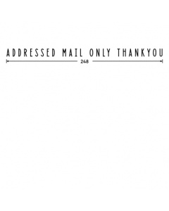Addressed Mail Only Sign