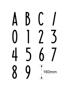 Letterbox Numbers and Letters 160mm