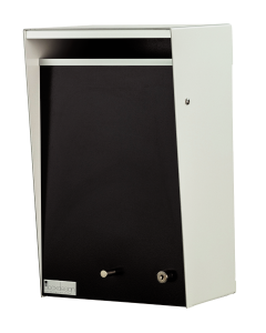 Wall Mounted Letterbox - Silver Pearl